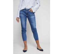 Skinny Jeans 'The Prima Crop' Mittelblau - Leder