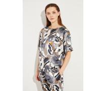 Seiden-Bluse mit floralem Muster Multi