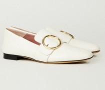 Lederloafer 'Lottie' Weiß - Leder