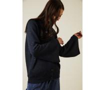 Cashmere-Seiden-Cardigan mit Paillettendetails Marineblau - Cashmere