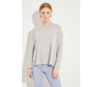 Oversize Woll-Pullover Grau
