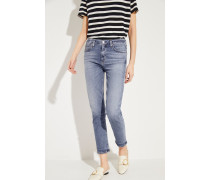 Ankle High Rise Slim 'Harlow' Blau