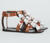 Sandale 'Weaver Tassel Sandal' Tan/Almond - Leder