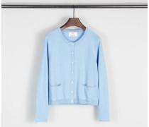Baumwoll-Cashmere-Cardigan Blau - Cashmere