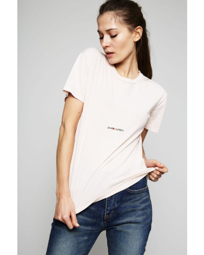 T-Shirt im Used-Look Rosé - 100% Baumwolle
