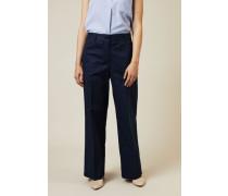 Hose mit eingebügelter Falte Marineblau - 100% Baumwolle
