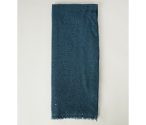 Cashmere-Seiden-Schal mit Pailletten Petrol - Cashmere