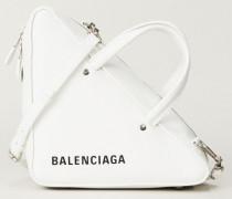 Geometrische Tasche 'Triangle' Weiß