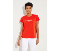 T-Shirt mit Logo Rot