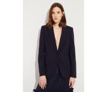 Taillierter Woll-Blazer Blau