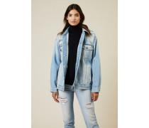 Oversize Jeansjacke Blau - 100% Baumwolle