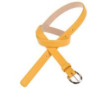 Gürtel in Gelb 1,5 cm