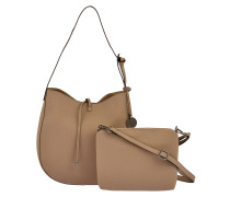 Beuteltasche Issy 2 in 1 in Taupe