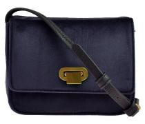 Crossbody Bag Samt in Blau