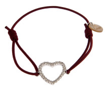 Armband Heart Bordeaux