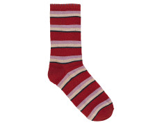 Socken Dina Summer Stripe in Red Love