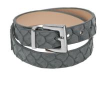 Armband aus Leder in Grau