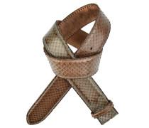 Gürtel Cintura in Braun/Oliv 4 cm