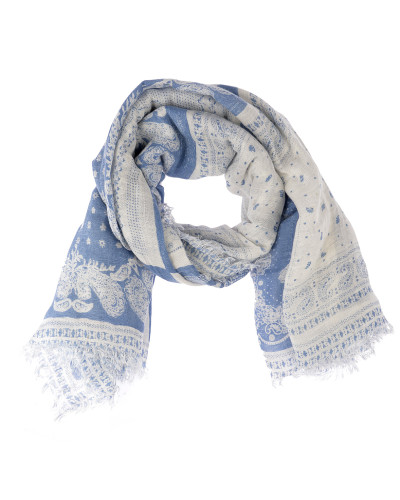 Paisley Patchwork Tuch in Blau