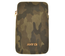 Leder Handy Case in Khaki Camouflage