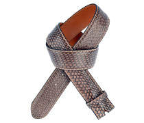 Gürtel aus Kobra-Leder in Mauve 4 cm