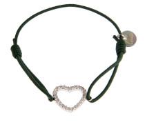 Armband Heart Dunkelgrün