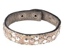 Armband in Offwhite mit Schlangenprägung