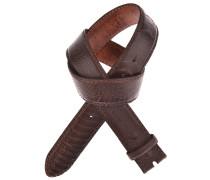 Reptile´s House Straußenledergürtel RUM in Mahagony Braun 4 cm