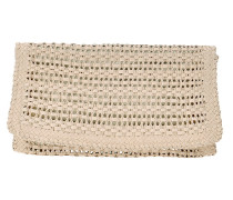 Flechtoptik Clutch in Taupe