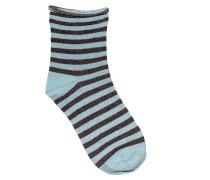 Socken Claudine in Blau/Braun