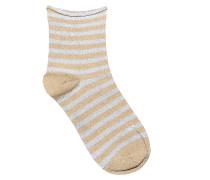 Socken Claudine in Gold/Silber