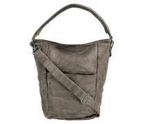 Beuteltasche S. C. Buzzcut in Taupe