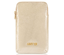 Leder Handy Case in Gold
