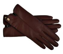 Handschuhe Leder + Spandex in Bordeaux