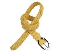 Gürtel TRX inkl. Schließe in Gelb 3,5cm