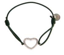 Armband Heart in Dunkelgrün