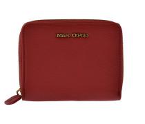Portemonnaie Zip Around in Rot