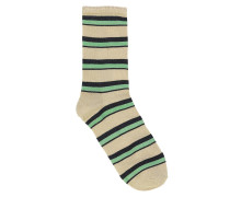 Socken Dina Summer Stripe Grass Green