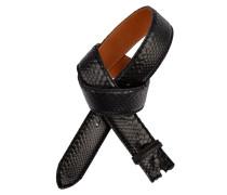 Gürtel aus schwarzem Pythonleder 4 cm