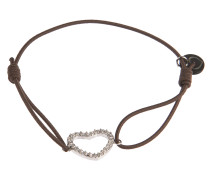 Armband Heart in Taupe