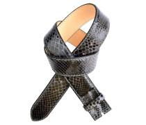 Reptile´s House Pythonleder Gürtel Amarone in Dunkelgrau 4 cm