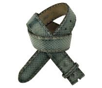 Pythonledergürtel RUM Vintage Grün 4 cm