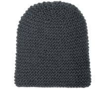 Mütze Handgestrickt Grau