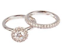 Ring Set Shiny versilbert - Zweiteilig