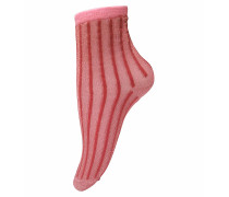 Socken Solid Stripe in Braun
