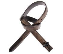 Pythonledergürtel RUM Metal in Schwarz 2,5 cm