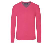 V-Ausschnitt Pullover mit Kaschmiranteil in Pink