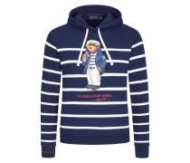 Sweatshirt mit Bärchen-Frontprint in Marine