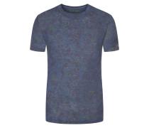 T-shirt, modischer Print in Marine