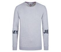 Meliertes Logosweatshirt in Grau